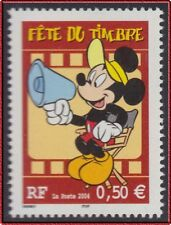 2004 FRANCE N°3641**  Mickey (Dessins animés) FETE DU TIMBRE MNH