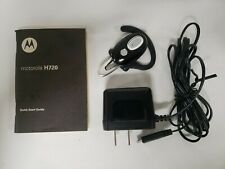 Motorola Bluetooth Headset H720 Black Ear-Hook Headsets W/ Manual and Charger