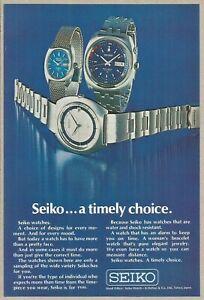 SEIKO...a timely choice. - 1971 Vintage Nat Geo Print Ad