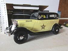 Jim Beam IAJBBSC Yellow 1934 Ford Model A Police  Car Decanter MIB