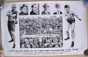 1906 Joe Gans vs Battling Nelson Large Poster (Repro)