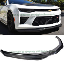For 16-Up Chevy Camaro SS V8 R Style Carbon Fiber Front Bumper Lip Spoiler