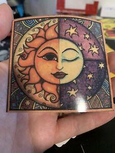 "3"" Sun Moon Colorful Boho Vibrant Stars Night Hippie Peace Vinyl Cool Sticker"