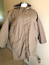 NIP WOMAN WITHIN Plus Size 4X (34/36) Tan Brown Removable Lining Winter Coat