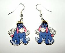 Eeyore Agnel with his golden halo  from Winne the Pooh Story Book Earrings