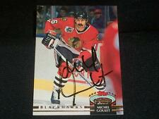 Chicago Blackhawks Michel Goulet Signed Auto 1992/93 Sta Club Card #69   A17