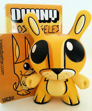 "DUNNY 3"" LA SERIES JOE LEDBETTER MR BUNNY YELLOW 3/25 KIDROBOT 2006 VINYL TOY"