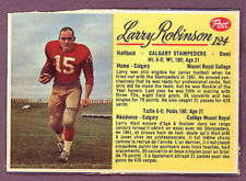 1963 POST CFL FOOTBALL #124 LARRY ROBINSON EX-NM CALGARY STAMPEDERS Card