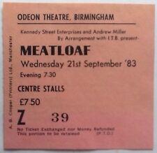Meatloaf Original Used Concert Ticket Odeon Theatre Birmingham 1983