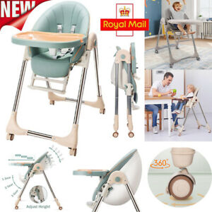 5 in 1 Adjustable Baby Highchair Foldable High Chair Recline Feeding Seat Table