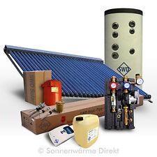 Solaranlage komplett 5 m² Röhrenkollektor + 200 Liter Solarspeicher Warmwasser