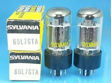 SYLVANIA 6BL7 GT VACUUM TUBE  MATCH PAIR SHINY BLACK PLATE  BEST OF BUNCH S08