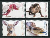 Australia 2019 MNH Fauna Galah Tasmanian Devil 4v Set Birds Lizards Stamps