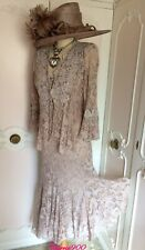 ANN BALON  Cappuccino Lace Dress & Jacket Suit Mother of the Bride Size 16 18 L