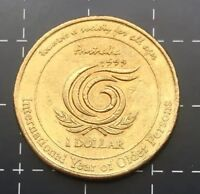 1999 AUSTRALIAN $1 ONE DOLLAR COIN - INTERNATIONAL YEAR OF OLDER PERSONS