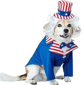 Uncle Sam ImPawsters USA Patriotic Fancy Dress Up Haloween Pet Dog Cat Costume