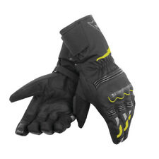 Dainese Tempest Unisex D-Dry Motorcycle Waterproof Textile Gloves - Black/Yellow