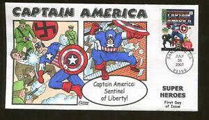 2007 San Diego California - Comic Super Heroes - Captain America - Collins FDC