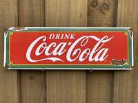 VINTAGE DRINK COCA COLA PORCELAIN METAL SIGN USA OIL COKE SODA POP GAS STATION