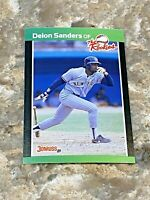 1989 Donruss The Rookies Deion Sanders RC #6 New York Yankees MLB Baseball Card
