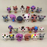 24pcs/set Littlest Pet Shop Rare Hasbro LPS Cute Animal Dogs Cats Toys Kids Gift