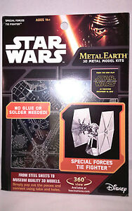 TIE Fighter Special Force Star Wars EP7 Authentic 3D Model Kit - Metal Earth New