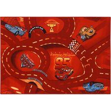 Teppich Kinderteppich Cars 2 World of Cars Teppich Straßenteppich 95x133 cm rot