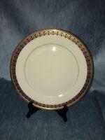 """LENOX CHINA TUDOR DINNER PLATE  COBALT BLUE & GOLD - 10 5/8"""" WIDE - USA"""