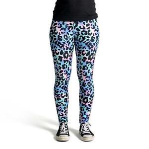 cosey – bedruckte bunte Leggings Leggins (Einheitsgröße) – Leoparden-Muster 5