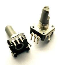 2pcs Rotary Encoder With Switch Ec12 Audio Digital Potentiometer 15mm Handle