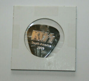 KISS Band Guitar Pick ERIC SINGER South America 2009 Alive 35 Tour Pearloid Gray