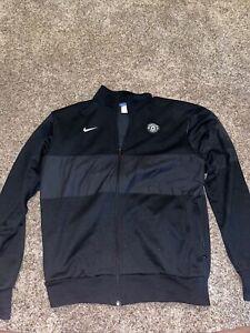 Nike Manchester United Zip-Up Jacket Black Size Large
