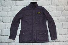 BARBOUR international jacket coat quilt women's UK 12 purple EU 38 M medium zip