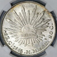 1885-Ca NGC MS 64 Mexico 8 Reales Mint State Silver Coin (18122901C)