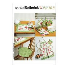 Butterick Sewing Pattern 5660 Apron Place Mat Seat Cushion Kitchen Accessories