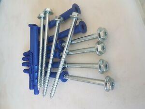 Coach fixings screws / bolts timber wood masonary and plugs