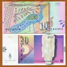 Macedonia, 10 Denari, 2011, P-14 (14i), Unc > Out of print replaced by a polymer
