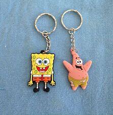 Sponge Bob and Patrick Keyring  school bag tag set of 2