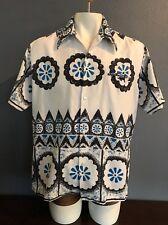 Penney'S Hawaii Hawaiian Shirt Vtg 60s Groovy Two Tone Aloha Shirt Sz L