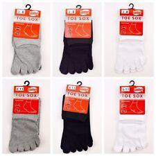 6 Pairs/ Toe Socks Premium Cotton Elastane Ankle Five Finger Toe Comfort Unisex