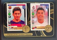 2016-17 Panini FIFA 365 Lionel Messi Cristiano Ronaldo Gold Foil sticker # 8