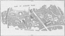 CITY OF LONDON. Lime Street ward (from a survey made in 1750) c1880 old map