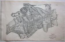 1818 CARTE VALLÉE DE BASTAN Barèges C. F. Mylius litografia Luz-Saint-Sauveur