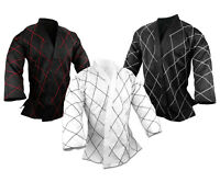 Hapkido Jacket ONLY, Martial Arts Medium Weight Top Only Gi Diamond Stitching