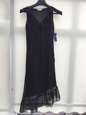 Essentials Size 10 Black Rainbow Polka Dot Midi Dress With Tag Party Cl2