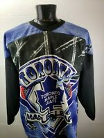 Vintage 90's CCM NHL Toronto Maple Leafs Full Print Hockey Jersey XL Mens