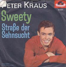 """Single 7"""" Peter Kraus """"Sweety/Straße der Sehnsucht"""""""