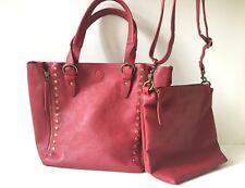 M&S Indigo Dark Red 2 in 1 Crossbody Shoulder Handbag Bag Bucket 👜🌸