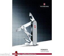 New Victorinox Swiss Army 93mm SILVER ALOX Knife  PIONEER X  0.8231.26 US2