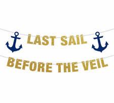 Last Sail Before the Veil Banner, Bachelorette Banner, Bachelorette Party Banner